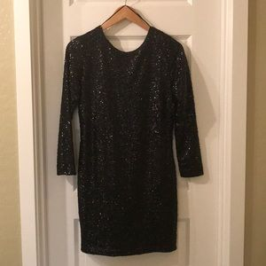 NWT - H&M Black Sequined Cocktail Dress